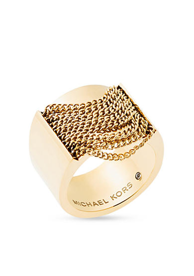 Michael Kors Gold-Tone Fringe Statement Ring