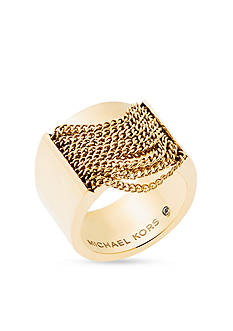 Michael Kors Gold-Tone Fringe Statement Ring