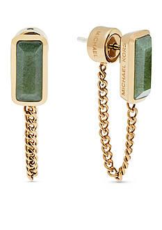Michael Kors Gold-Tone Jade Stud Earrings