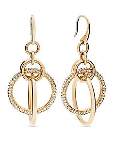 Michael Kors Gold-Tone Pave Drop Earrings