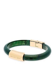 Michael Kors Gold-Tone and Green Magnetic Closure Bangle