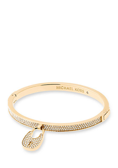Michael Kors Gold-Tone Clear Push Button Bracelet