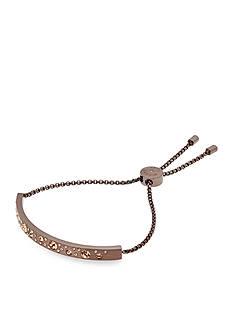 Michael Kors Scattered Pave Sable IP Brushed Bar Slider Bracelet