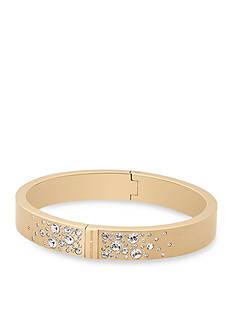 Michael Kors Jewelry Gold-Tone Brushed Hinged Bangle Bracelet