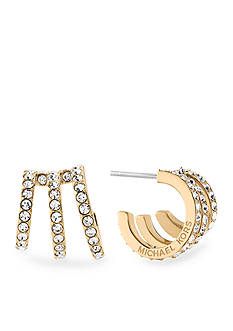 Michael Kors Gold-Tone Open Work Huggie Earrings