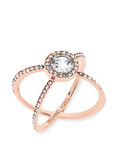 Michael Kors Jewelry Rose Gold-Tone X Ring