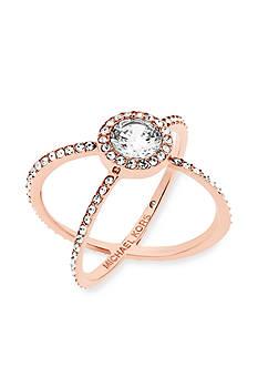 Michael Kors Rose Gold-Tone X Ring