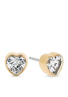 Michael Kors Jewelry Gold-Tone Stud Heart Earrings