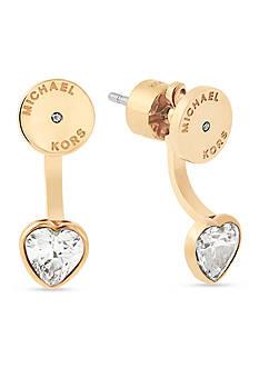 Michael Kors Gold-Tone Heart Front-Back Earrings
