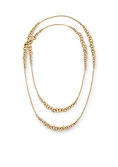 Michael Kors Gold-Tone Heritage Ringling Graduated Link Station Necklace