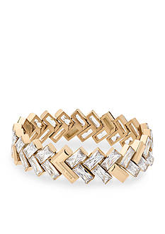 Michael Kors Gold-Tone Chevron Statement Bracelet