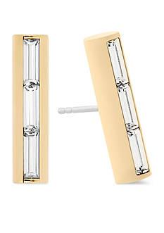 Michael Kors Gold-Tone Midnight Barrel Stud Earrings