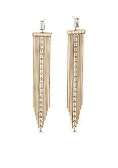 Michael Kors Gold-Tone Fringe Statement Earrings