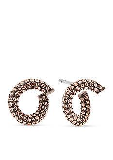 Michael Kors Jewelry Rose Gold-Tone Color Rush Huggie Twist Earrings