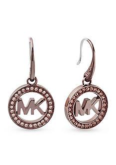 Michael Kors Rose Gold-Tone Sable Drop Earrings