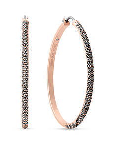 Michael Kors Rose Gold Color Bombay Hoop Earrings