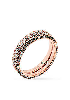 Michael Kors Rose Gold-Tone Color Stacking Rings Set