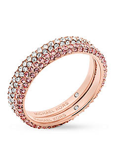 Michael Kors Rose-Gold-Tone Color Rush Stacking Rings Set