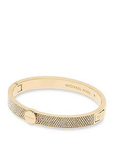 Michael Kors Gold-Tone Logo Bangle Bracelet