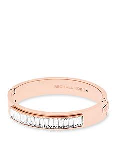 Michael Kors Rose Gold-tone Hinge Bracelet