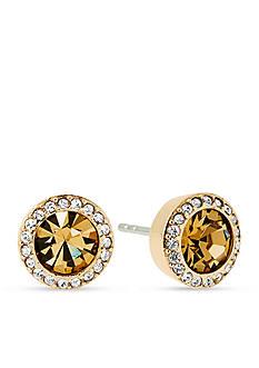 Michael Kors Gold-Tone Topaz Stud Earrings