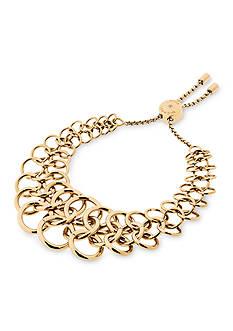 Michael Kors Haute Hardware Gold-Tone Chainmail Slider Bracelet