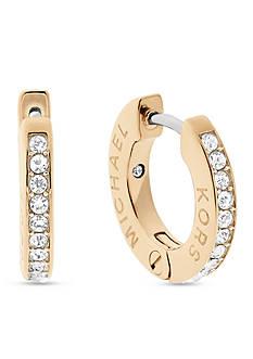 Michael Kors Haute Hardware Gold-Tone and Crystal Huggie Hoop Earrings
