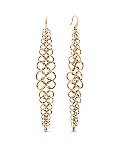 Michael Kors Haute Hardware Gold-Tone Chainmail Statement Earrings
