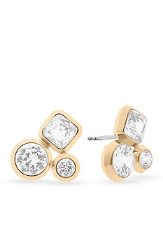 Michael Kors Easy Opulence Gold-Tone and Crystal Cluster Stud Earrings