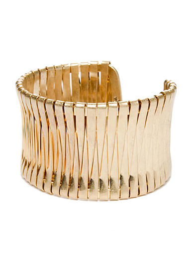 Kenneth Cole Gold-Tone Woven Cuff Bracelet