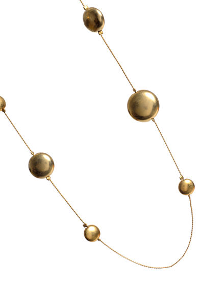 Kenneth Cole Gold-Tone Disc Long Illusion Necklace