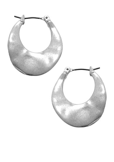 Kenneth Cole Small Silver-Tone Hoop Earrings