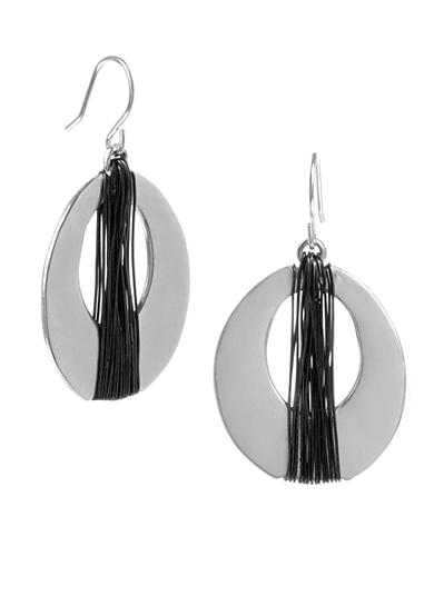 Kenneth Cole Wrapped Oval Hoop Earring
