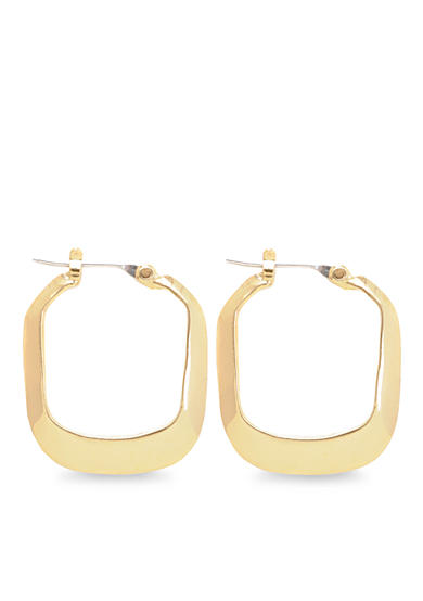 Kenneth Cole Small Gold-Tone Rectangle Hoop Earrings