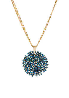 Kenneth Cole Woven Faceted Bead Pendant Necklace