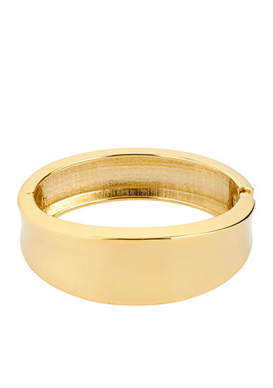Kenneth Cole Gold Sculptural Hinged Bangle Bracelet