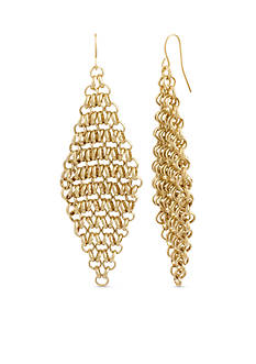 Kenneth Cole Circle Link Chandelier Earrings