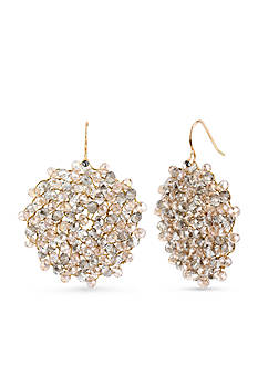 Kenneth Cole Topaz Bead Drop Earrings