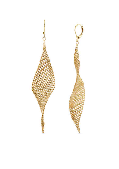Kenneth Cole Gold-Tone Mesh Twist Drop Earring