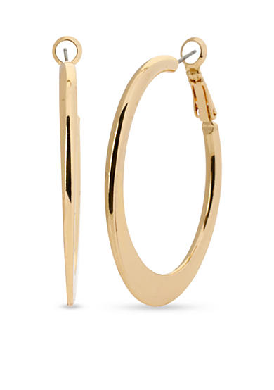 Kenneth Cole Gold-Tone Edge Hoop Earring