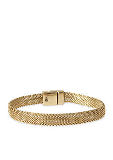 Kenneth Cole Gold-Tone Mesh Chain Bracelet