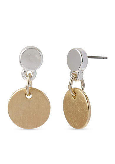 Kenneth Cole Circle Drop Earrings