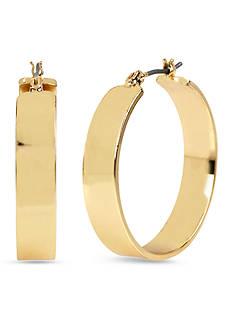 Kenneth Cole Wide Hoop Gold-Tone Earring