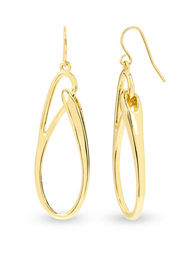 Kenneth Cole Sculptural Oval Link Drop Earring