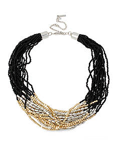 Kenneth Cole Two-Tone Seed Bead Torsade Necklace