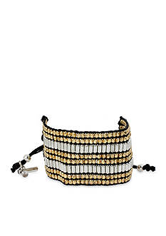 Kenneth Cole Two-Tone Seed Bead Woven Adjustable Friendship Bracelet
