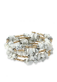Kenneth Cole Gold-Tone Palm Desert Coil Bracelet