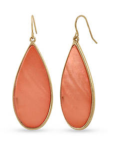 Kenneth Cole Gold-Tone Coral Canyon Teardrop Earrings
