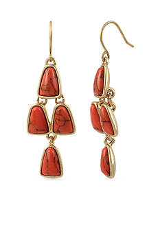 Kenneth Cole Gold-Tone Semiprecious Stone Chandelier Earrings