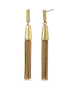 Kenneth Cole Gold-Tone Coral Canyon Tassel Linear Earrings